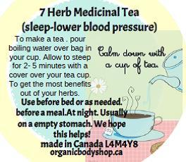 7 HERB MEDICINAL TEA - anti-bloating. pain..