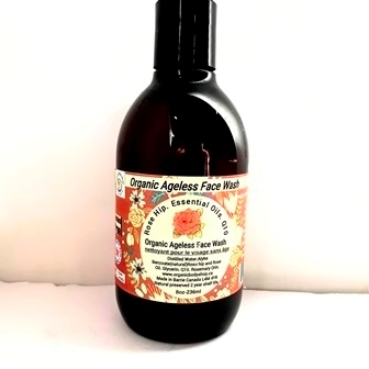 Ageless Face Wash with Rose hip.