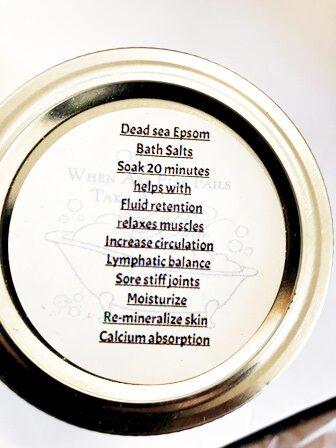 Dead Sea Salt -Epsom. Lemon Grass Oil-Bath Salts