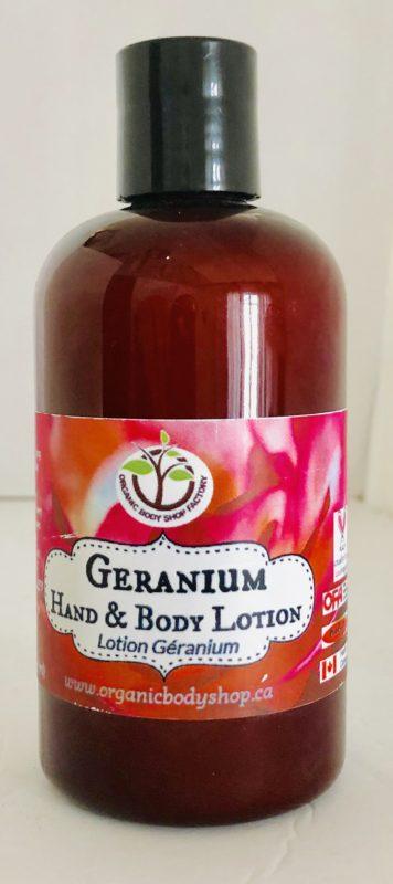 Organic Geranium Lotion 8oz No Tax