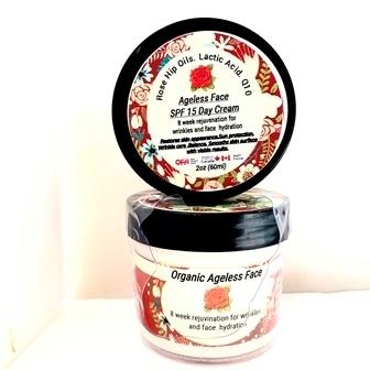 Organic Ageless Day Cream SPF 15 - Borage Oil-Q10-Rosehip